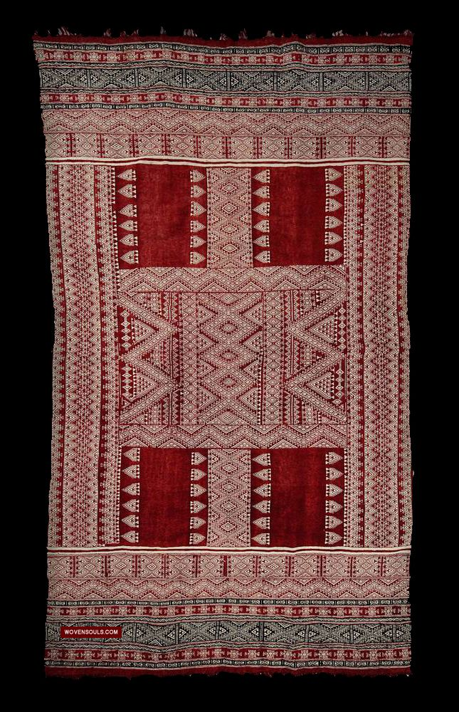 1259 Antique Tunisian Wedding Shawl Bakhnoug Bakhn