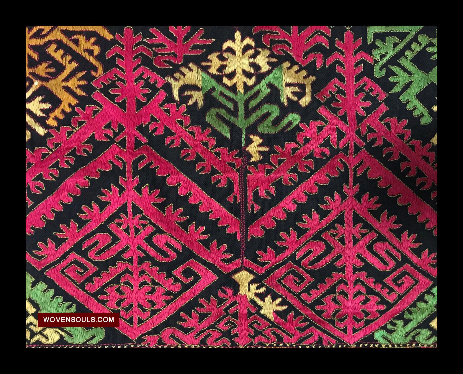 1351 Antique Kohistan Textile Embroidery Panel Mas