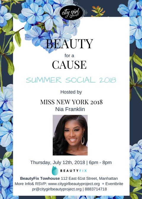 BEAUTY for a Cause Summer Social 2018 Invitation -