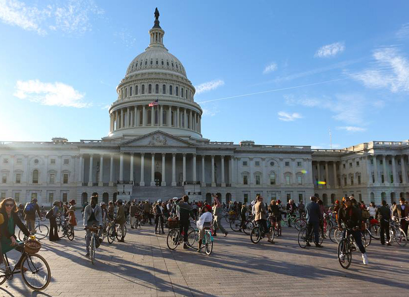 Bike Riders at the Capitol Building
