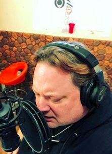 Brett Hunt in recording studio
