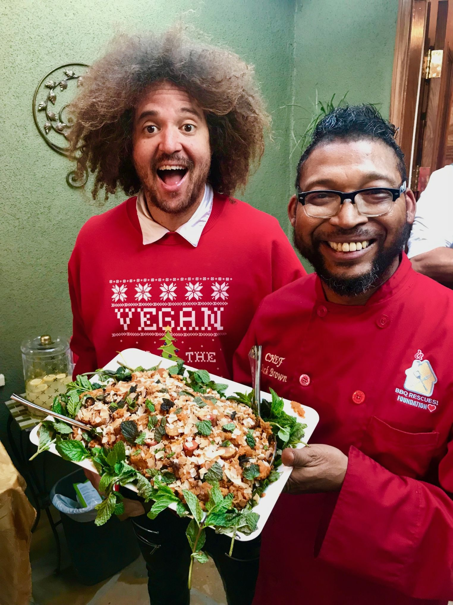 Chef Mick doing Vegan Thanksgiving with Redfoo of LMFAO Party Rock fame