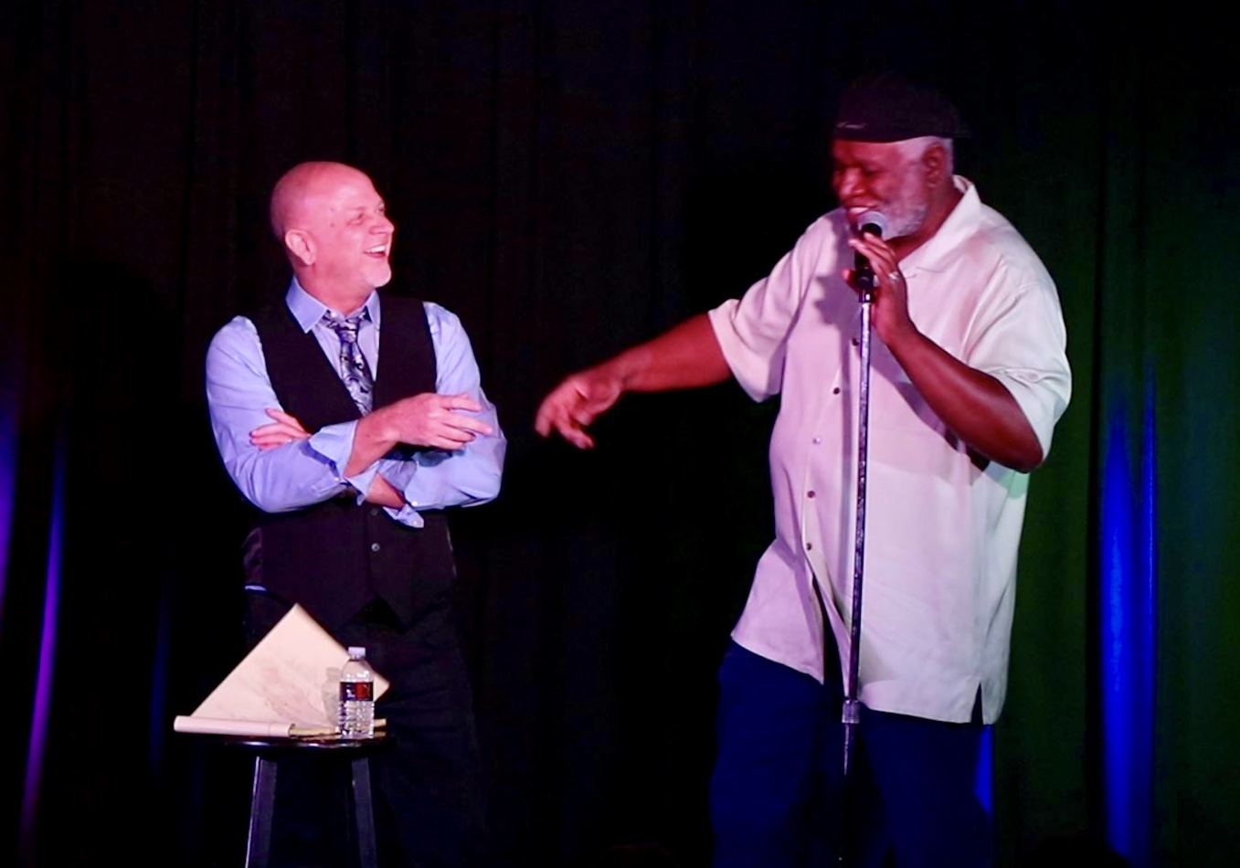Comedy Legend George Wallace Joins Don Barnhart Onstage At Jokesters Comedy Club