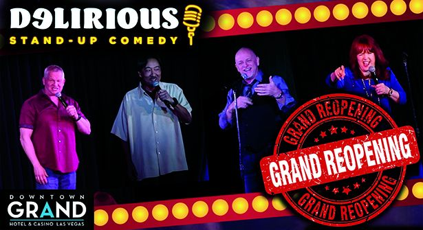Delirious Comedy Club Reopens Downtown Las Vegas