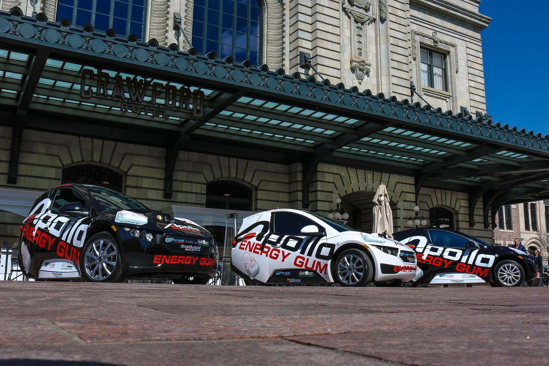 Denver Union Station with Apollo Energy Gum SOLO Cars