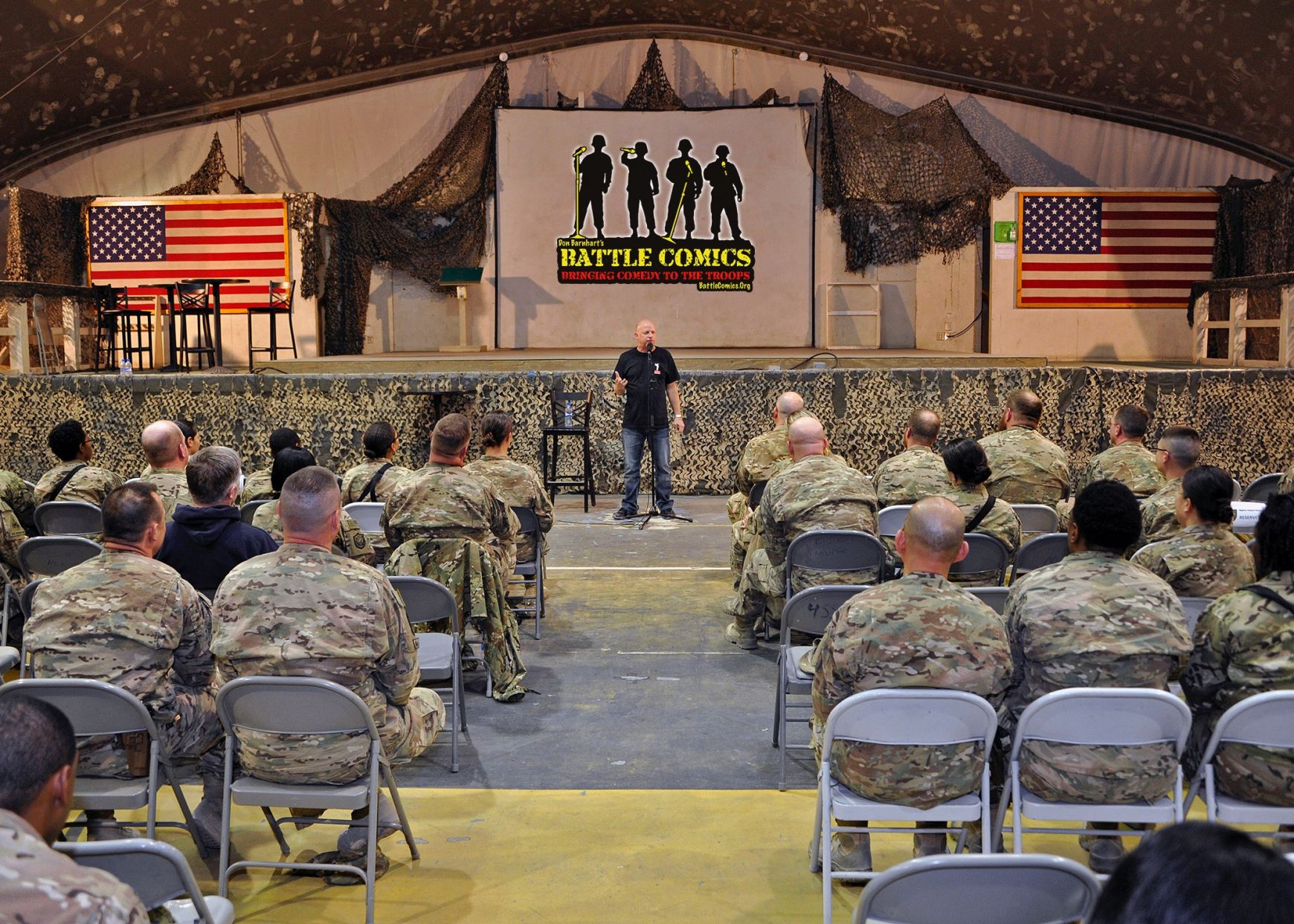 Don Barnhart Entertaining The Troops In Afghanistan