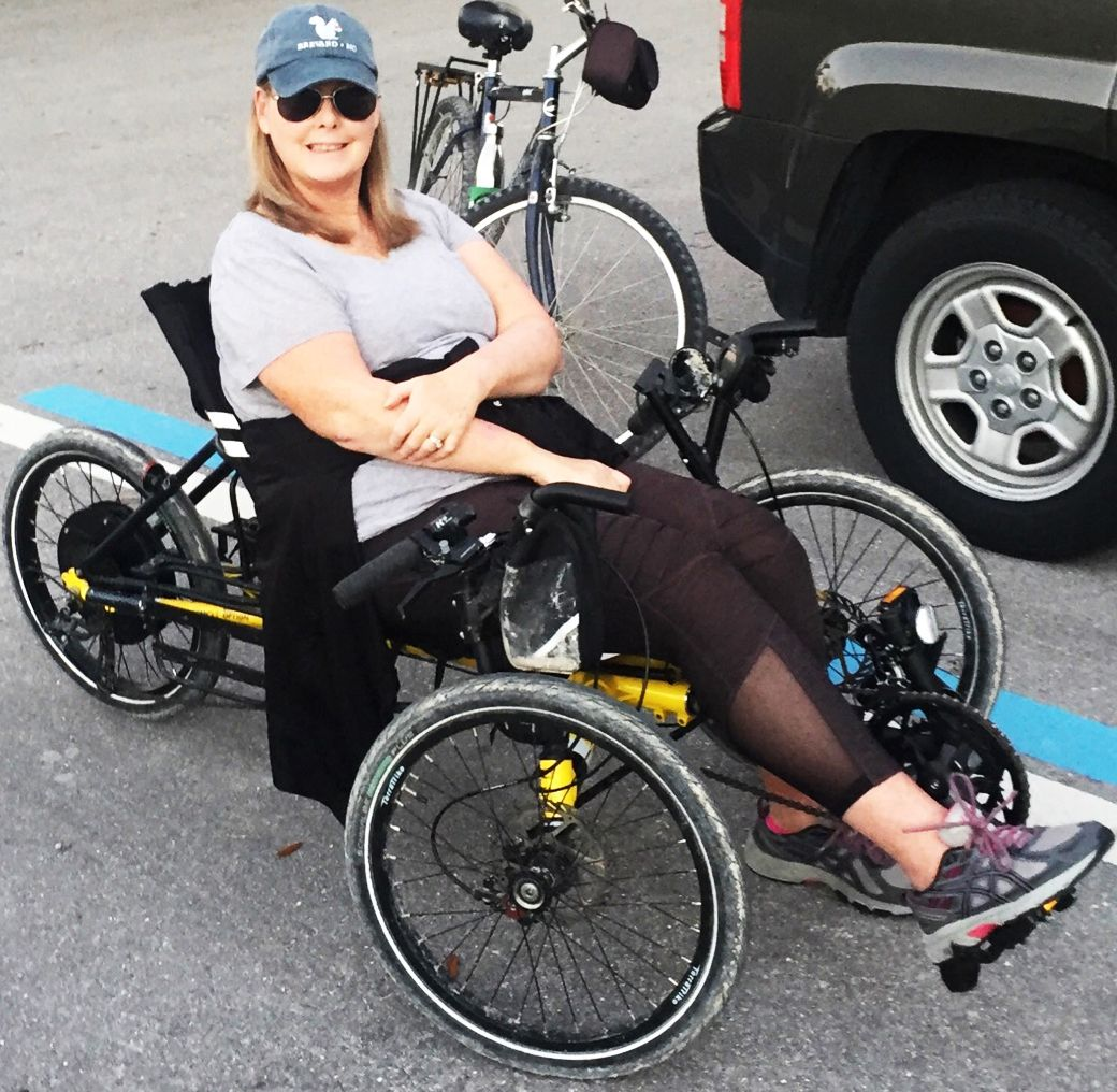 Doreen Scott on a trike with eBike System f7.11