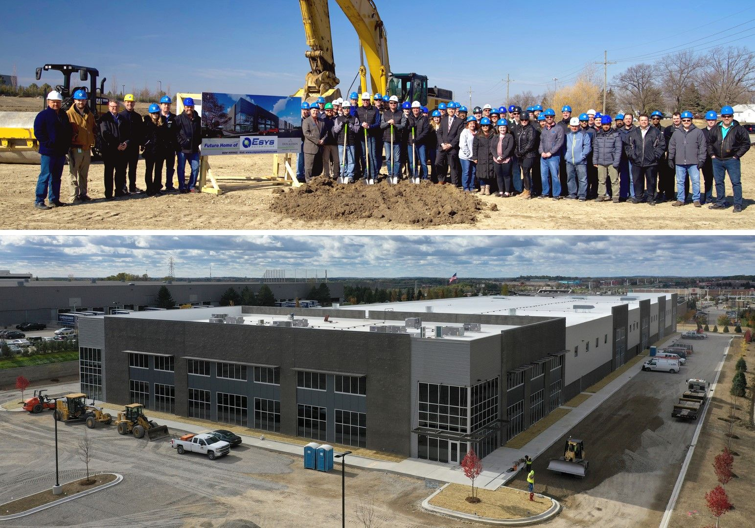 Esys is expanding to a new 125k sq-ft facility at 1000 Brown Rd Auburn Hills, MI