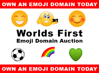 First-Of-Its-Kind Emoji Domain Name Auction