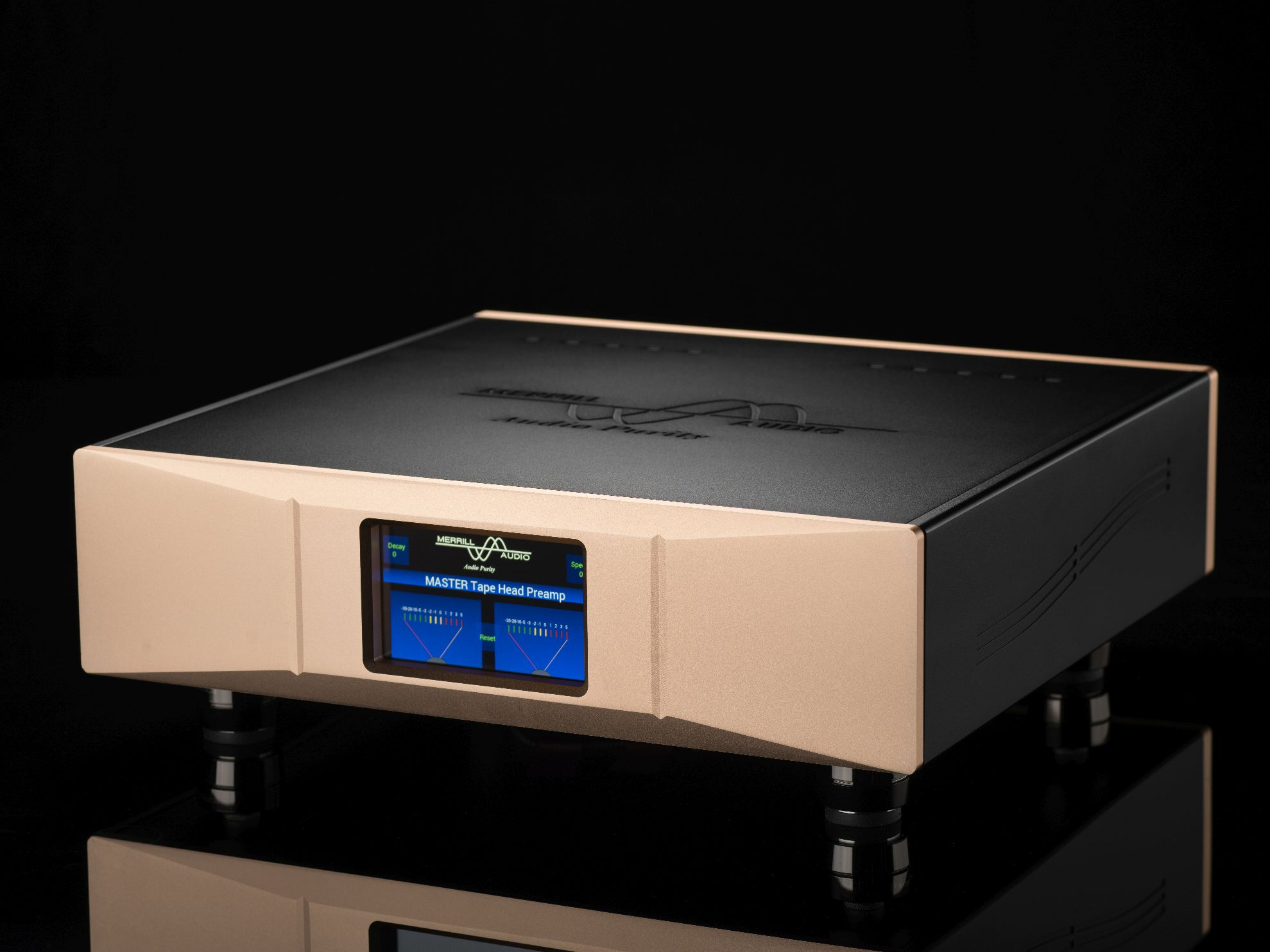 Merrill Audio MASTER TapeHead Preamp Front View
