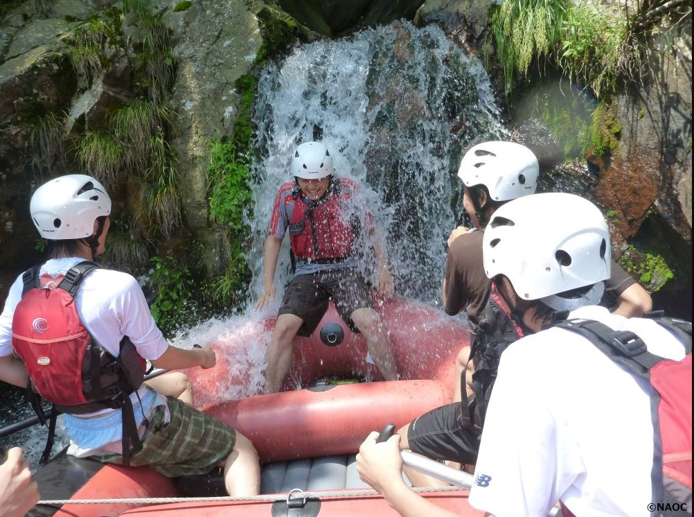 NAOC Rafting With Waterfall Fun
