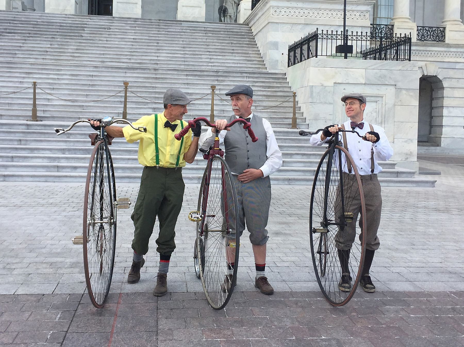 Penny Farthings at the Washington, D.C. Tweed Ride