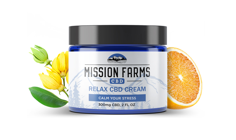 Relax CBD Goat Milk Cream from Mission Farms CBD