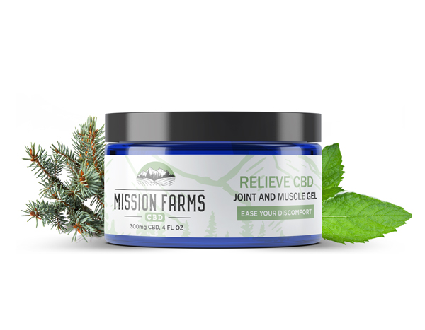 Relieve CBD Joint and Muscle Gel from Mission Farms CBD