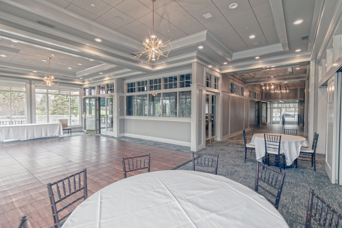 Spectacular main room of the recently renovated clubhouse
