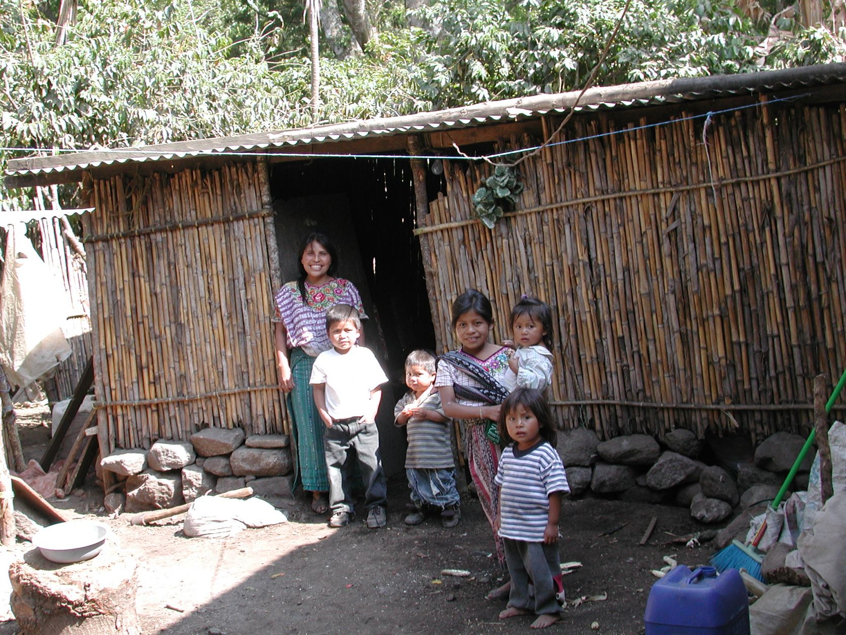 A typical rural Guatemalan home